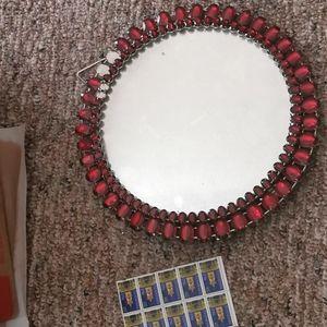 """12"""" Round Mirror Wall Mounted Hanging Makeup Mirro"""